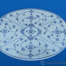 Antigüedades: PRECIOSO SALVAMANTELES DE PORCELANA AZUL DE DELFT (HOLANDA). Lote 39063632