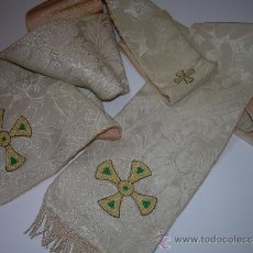 Antigüedades: ANTIGUA ESTOLA DE TELA BORDADA.. Lote 39071421