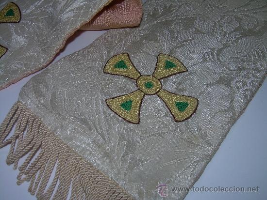 Antigüedades: ANTIGUA ESTOLA DE TELA BORDADA. - Foto 2 - 39071421