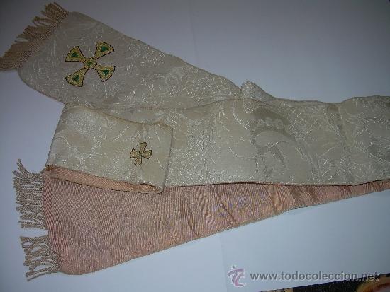 Antigüedades: ANTIGUA ESTOLA DE TELA BORDADA. - Foto 5 - 39071421
