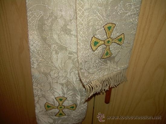 Antigüedades: ANTIGUA ESTOLA DE TELA BORDADA. - Foto 7 - 39071421