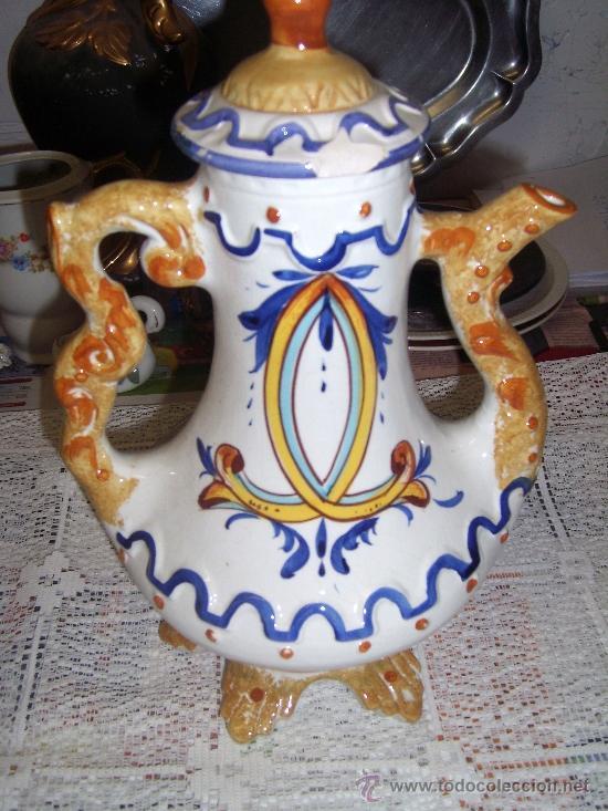 Antigüedades: PRECIOSO JARRON CON ASA, BELLAMENTE DECORADO - Foto 4 - 39074281