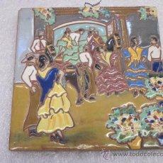 Antigüedades: AZULEJO DE HIJO DE J. MENASQUE DE SEVILLA. Lote 39111762
