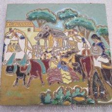 Antigüedades: AZULEJO DE HIJO DE J. MENASQUE DE SEVILLA. Lote 39111795