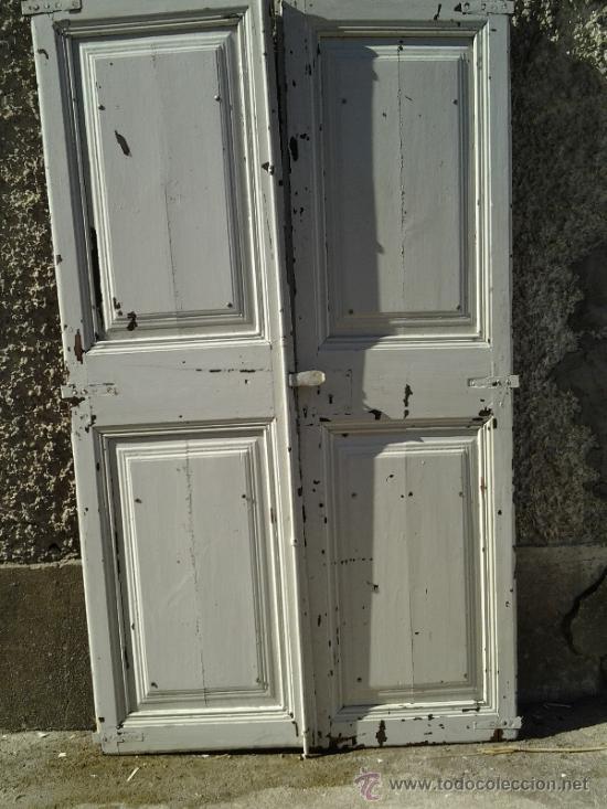 2 puertas antiguas blancas de alacena comprar