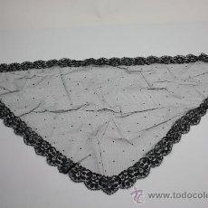Antigüedades: MANTILLA EN BORDADO MECÁNICO SOBRE TUL, . Lote 39082530