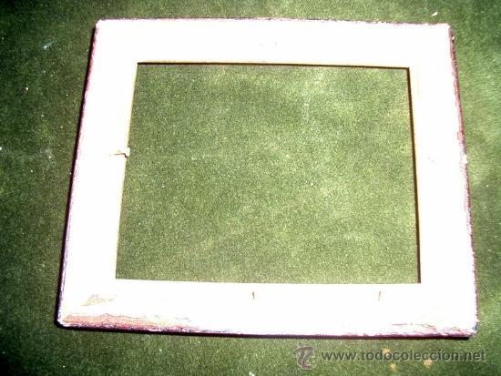 Antigüedades: Pequeño marco. Ideal para las pinturas en miniatura. Medidas, 15,50cmx13cm, luz 13x10,50cm - Foto 2 - 39083713