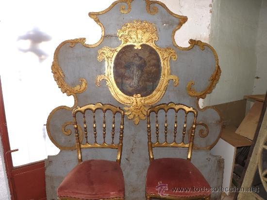 impresionante cama de olot con pintura de virge - Comprar Camas ...