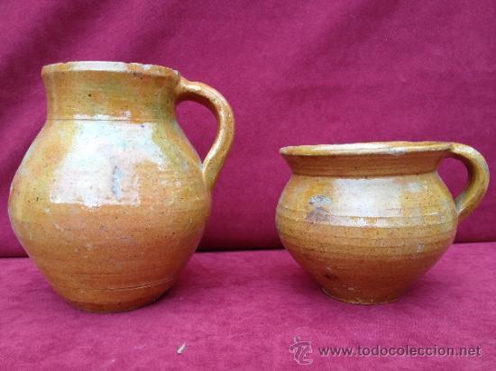 Antigüedades: PUCHERO Y JARRA DE CERÁMICA DE TERUEL S.XIX-S.XX - Foto 4 - 39115638