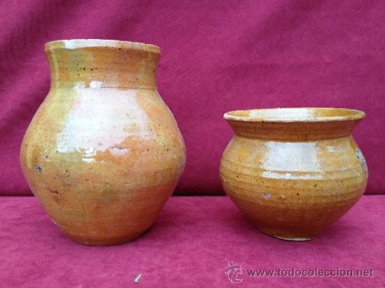 Antigüedades: PUCHERO Y JARRA DE CERÁMICA DE TERUEL S.XIX-S.XX - Foto 3 - 39115638