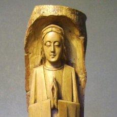 Antigüedades: VIRGEN DE FINA TALLA MADERA . Lote 39101291