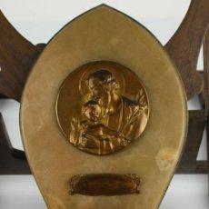 Antigüedades: BENDITERA EN MARMOL Y METAL. SAN JOSE CON NIÑO. PRINC S XX.. Lote 39109323