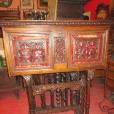 Antigüedades: BARGUEÑO EN MADERA DE NOGAL CON BELLA CAJONERA. . Lote 39114210
