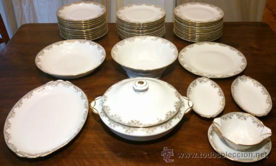 Juego completo vajilla autentica porcelana de l comprar for Vajilla de porcelana inglesa