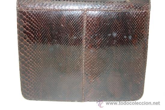 Antigüedades: BOLSO DE MANO EN PIEL DE SERPIENTE. DE CONSERVACIÓN. PRIMER TERCIO S. XX - Foto 12 - 39109322