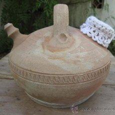 Antigüedades: BOTIJO PARA AGUA- - COLOR TIERRA CON PROTECTORE - PROCEDENCIA DEL BAJO ARAGON -TERUEL. Lote 39124211