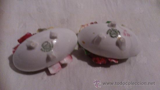 Antigüedades: LOTE DE 2 PEQUEÑAS CESTAS DE FLORES - Foto 2 - 39128222