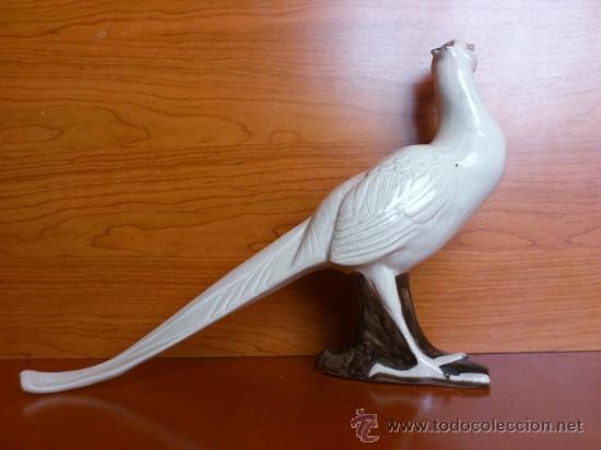 Antigüedades: Elegante Faisan antiguo en porcelana, hecho y pintado a mano. - Foto 7 - 39175448