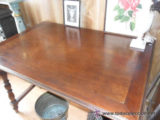 mesa de comedor en madera de color nogal antigu - Buy Antique Tables ...