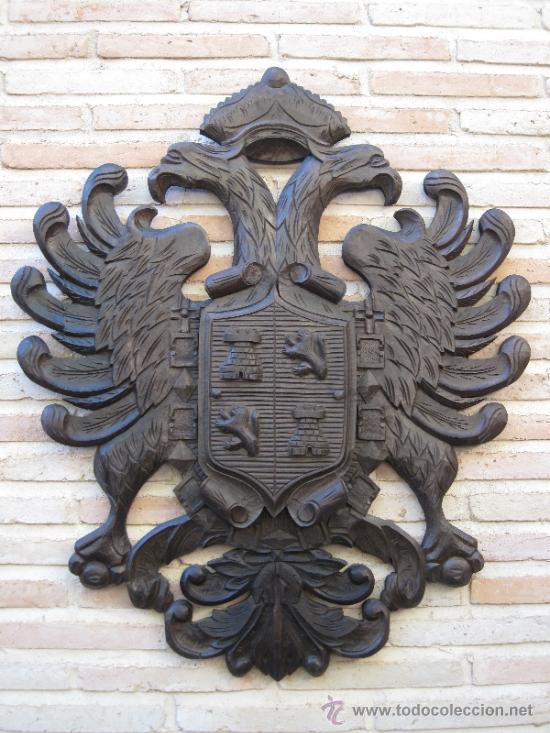 Toledo escudo en madera tallada de la ciudad comprar - Antiguedades en toledo ...