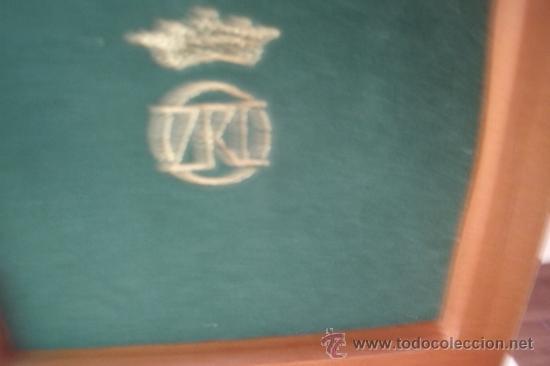 Antigüedades: ELEGANTE PISACORBATAS CON GEMELOS TODO CHAPADO EN ORO MARCA ZRC EN BONITA CAJA DE MADERA - Foto 6 - 39142420