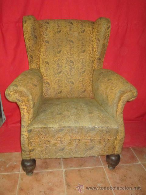 Pareja de sillones de oreja estilo ingl s para comprar for Sillones antiguos