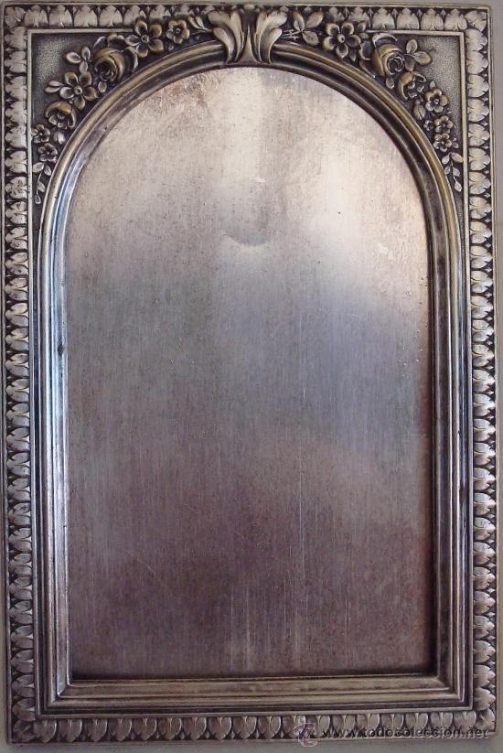 Antigüedades: ANTIGUO PORTARETRATO DE METAL ESTILO MODERNISTA - Foto 6 - 39158112