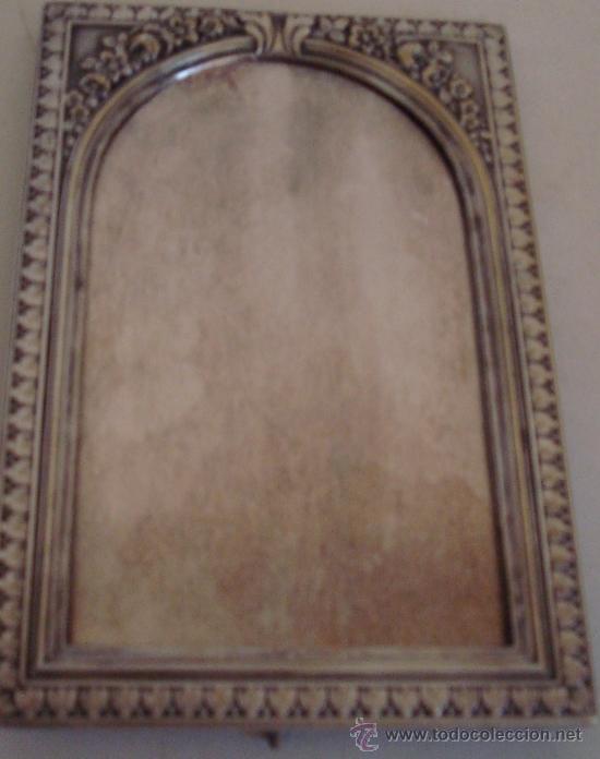 Antigüedades: ANTIGUO PORTARETRATO DE METAL ESTILO MODERNISTA - Foto 7 - 39158112