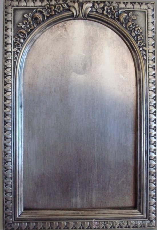 Antigüedades: ANTIGUO PORTARETRATO DE METAL ESTILO MODERNISTA - Foto 11 - 39158112