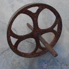 Antigüedades: RUEDA DE CARRETON . Lote 39159585