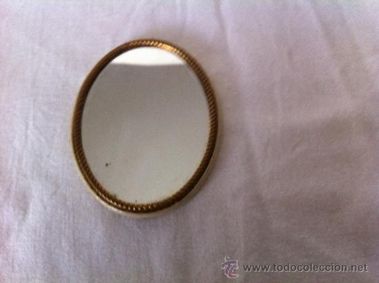 Antigüedades: Espejo de bolso de sra - Foto 2 - 39149831