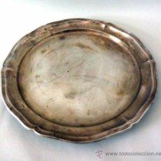 Antigüedades: ANTIGUA GRAN BANDEJA CHAPADA EN PLATA. Lote 39199893