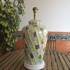 Antigüedades: LAMPARA DE PIE O SUELO EN CERAMICA . Lote 39201238