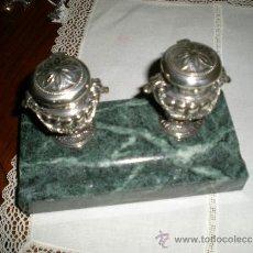 Antigüedades: BONITA ESCRIBANIA DE PLATA. Lote 39205907