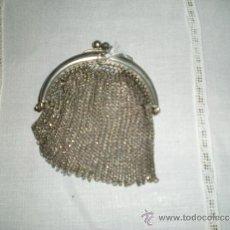 Antigüedades: MONEDERO ANTIGUO EN MALLA DE PLATA . Lote 39206417