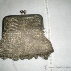 Antigüedades: MONEDERO ANTIGUO EN MALLA PLATEADA. Lote 39206471