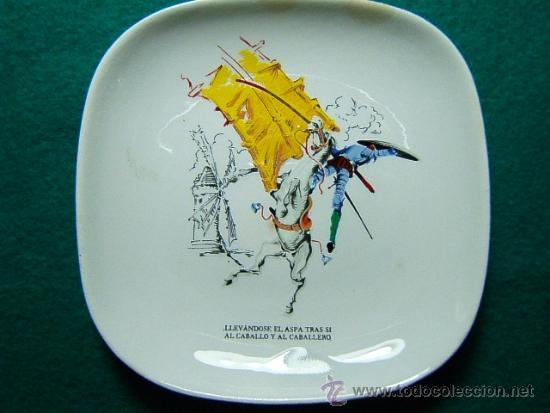DON QUIJOTE DE LA MANCHA-MIGUEL DE CERVANTES Y SAAVEDRA-PORCELANA OVIEDO SAN CLAUDIO Nº5-69-1960 ? (Antigüedades - Porcelanas y Cerámicas - San Claudio)