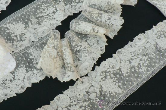 Antigüedades: ANTIGUO ENCAJE DE ALENCON - Foto 4 - 35202436