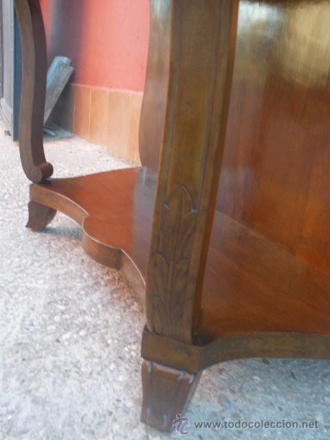 Antigüedades: CONSOLA - MESA DE ALA. DE PALO SANTO. - Foto 17 - 39230564