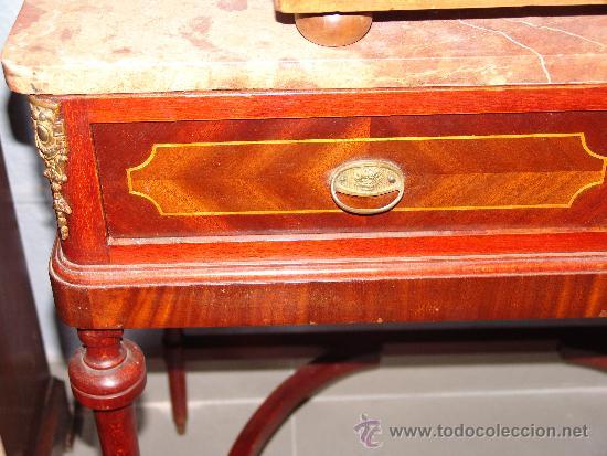 Antigüedades: MUY BONITA MESA ESTILO MODERNISTA CON LIMONCILLO Y SOBRE DE MÁRMOL - Foto 2 - 39230848