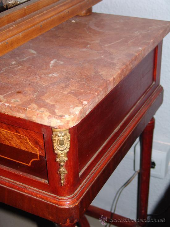 Antigüedades: MUY BONITA MESA ESTILO MODERNISTA CON LIMONCILLO Y SOBRE DE MÁRMOL - Foto 3 - 39230848