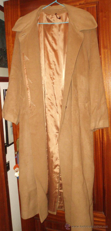 ABRIGO LARGO COLOR CANELA TALLA 48 (Antigüedades - Moda y Complementos - Mujer)
