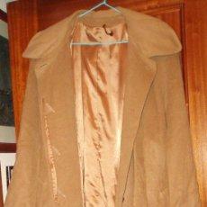 Antigüedades: ABRIGO LARGO COLOR CANELA TALLA 48. Lote 39235915
