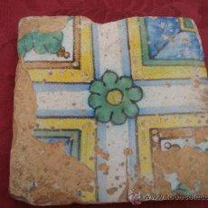 Antigüedades: ANTIGUO AZULEJO VALENCIANO. SIGLO XVIII. Lote 39251306