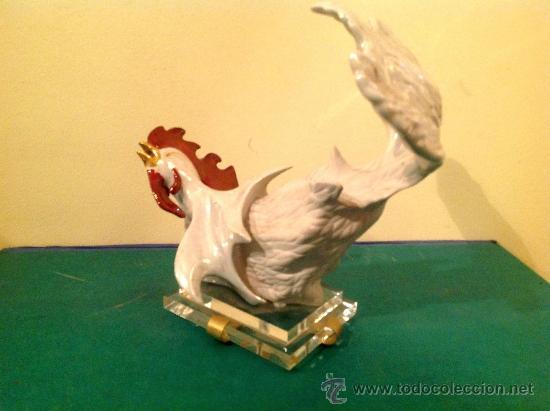 Antigüedades: Gallo de Porcelana Galos 1986 / Pieza de colección Medidas 34x34CM - Foto 2 - 39257140