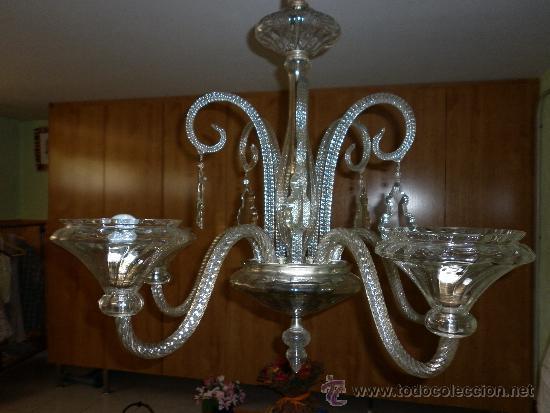 LAMPARA DE CRISTAL MALLORQUINA (Antigüedades - Iluminación - Lámparas Antiguas)