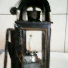 Antigüedades: IMPRESIONANTE Y ANTIGUO FAROL DE CARRUAJE DE CABALLOS,SIGLO XIX TIENE EL SÍMBOLO DOS MEDIAS LUNAS Y. Lote 57645712