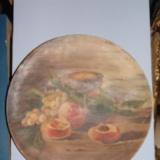 Antigüedades: PRECIOSO PLATO DE BARRO PINTADO. Lote 39274709