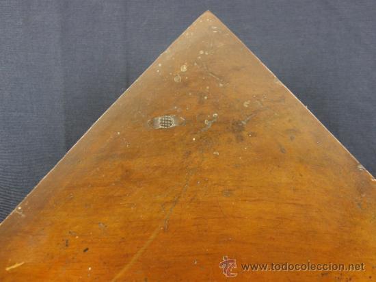 Antigüedades: REPISA ESTANTERÍA ESQUINERA MADERA NOGAL TEÑIDA NEGRO CHAPADO FINALES XVIII PPIOS XIX - Foto 12 - 39275183
