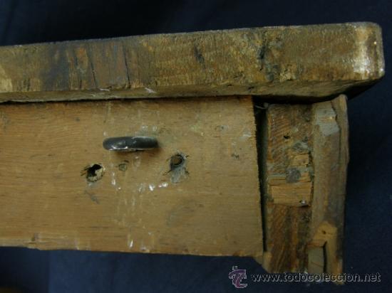 Antigüedades: REPISA ESTANTERÍA ESQUINERA MADERA NOGAL TEÑIDA NEGRO CHAPADO FINALES XVIII PPIOS XIX - Foto 6 - 39275183